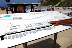 Planta de localização tátil Praia da Nazaré
